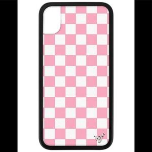 Wildflower Pink Checkered Phone Case Iphone XR